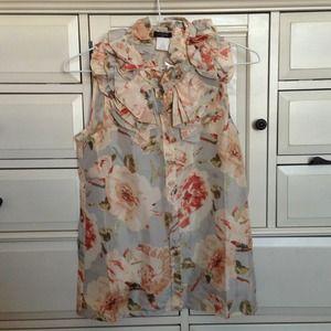 J. Crew Tops - J Crew silk floral print blouse