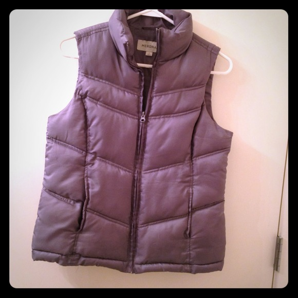 Merona Jackets & Coats - ⚡SOLD⚡Slate gray puffy vest