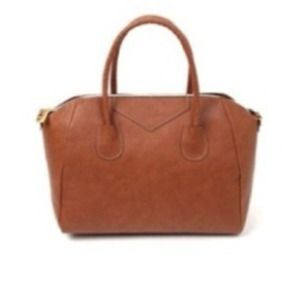 Handbags - Dark tan hand bag.