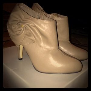 Tan/ nude booties