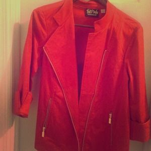 Bob mackie red moto jacket. Size large.
