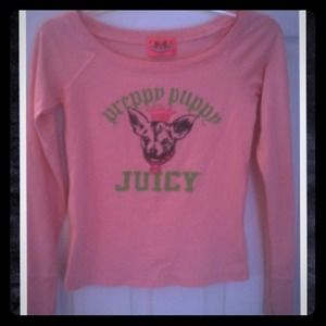 "Juicy Couture Tops - reduced  adorable ""Juicy"" tee !! Was 15"