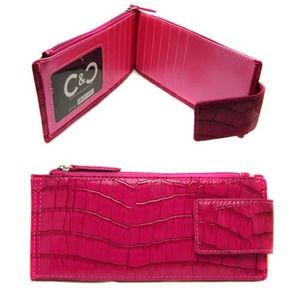 Clutches & Wallets - Edgy Croc Print Wallet