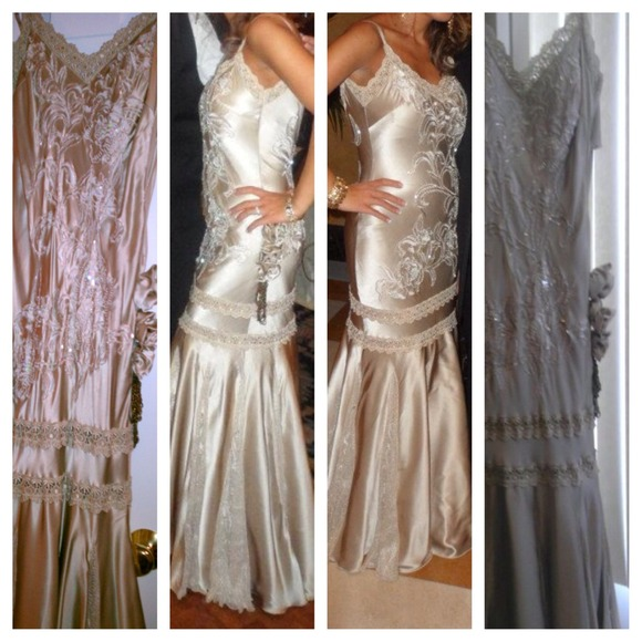 Gorgeous custom made evening gown