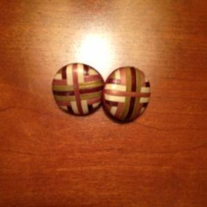 Jewelry - Cool retro wood earrings
