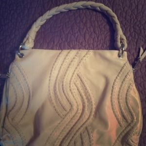 Designer inspired light pink handbag