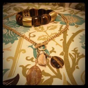 Lia Sophia Necklace and Bracelet