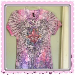 Tops - NWOT Kaleidoscope Of Sublimated Color Tee