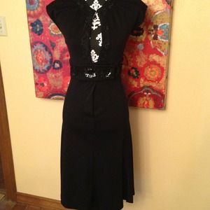 Diane vonFurstenberg black dress