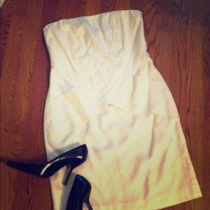 Gorgeous Foley+Corinna Silk/Cotton Strapless Dress