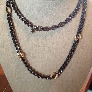 Stella & Dot hematite necklace