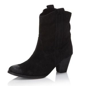 Ash Lenny  Boots - Ash Lenny Suede Western Boot in Black