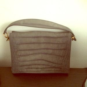NWT Limited edition YSL grey suede purse