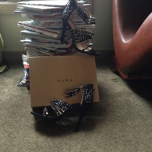Zara Shoes - Zara Studded Heels