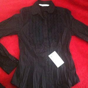 ZARA woman  black button up shirt