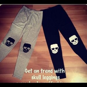 Pants - Skull patch leggings