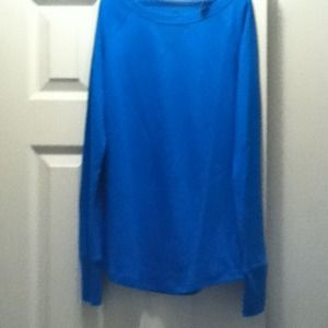 Blue Long sleeve shirt blouse top