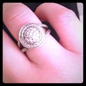 David Yurman 8MM PAVE DIAMOND ALBION RING