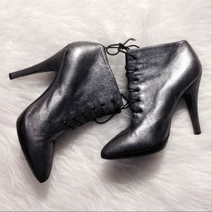 Sigerson Morrison Metallic Leather Booties