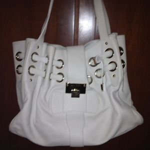 Jimmy Choo original large white bag