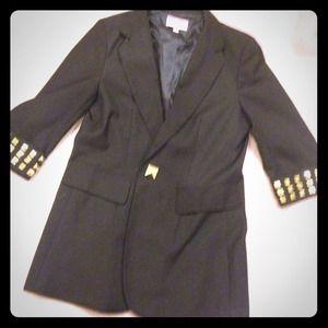 Jackets & Blazers - Black studded blazer