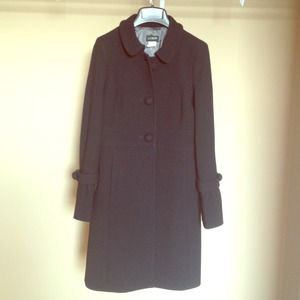 J. Crew Black Double Cloth Tulip Coat