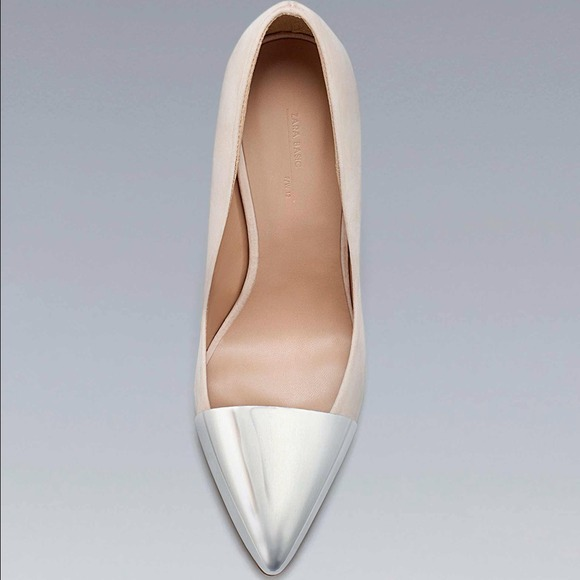 Zara Shoes - Zara Metallic Cap-Toe Pump 2