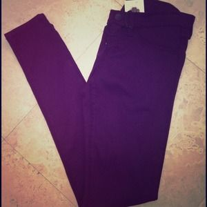 Violet Flying Monkey skinny jeans