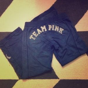 Victoria's Secret Pants - Navy VS PINK Distressed Track Sweats