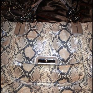 Python Tote bag Authentic Coach only made a couple