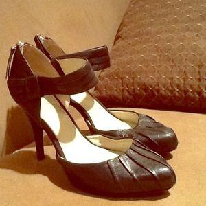 Nine West leather heel