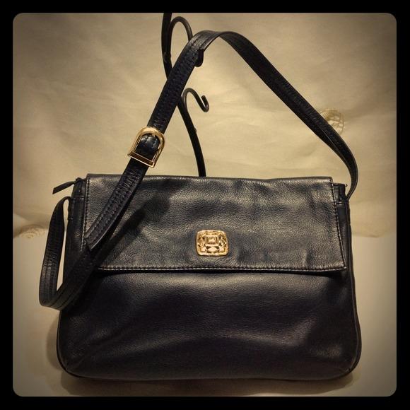 2a928df6b Giani Bernini Bags | Vintage Leather Flap Crossbody Bag | Poshmark