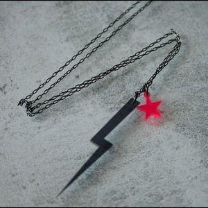 Rocker lightning bolt necklace