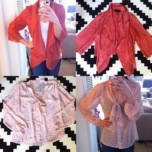 Forever 21 Tops - RESERVED- Rust & Blush F21 Bundle