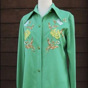 Vintage Pistachio Green Shirt