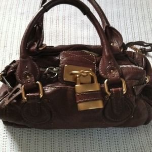 Chloe 'Paddington' leather padlock satchel
