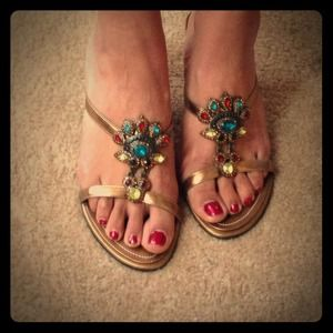 Shoes - 💕Cute jeweled sandals❤