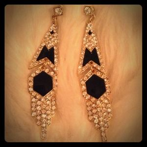 Art Deco inspired statement earrings
