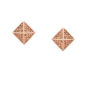 Jewelry - Dazzling rose gold pyramid stud earrings