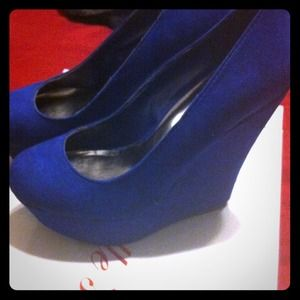 Shoes - Blue wedges 💙💙💙💙💙💙
