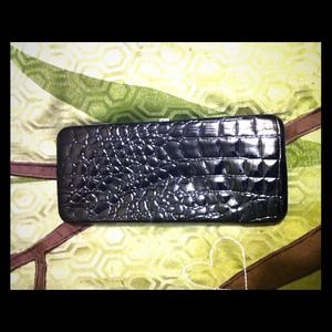 Faux Alligator Clutch