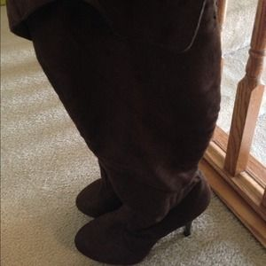 Cute brown suede boots