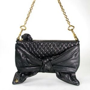 Juicy Couture black bow purse handbag bag clutch