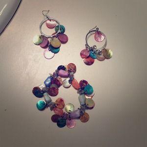 Lia Sophia earrings and bracelet