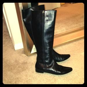 Authentic Chanel leather boots