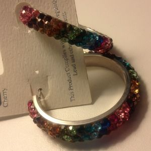 Gorgeous multi-colored crystal earrings!!