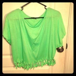 Lime Green fringed Hi shirt