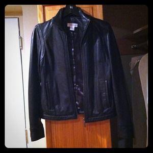 REDUCED! Calvin Klein Black Leather Jacket