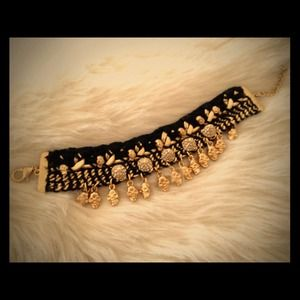 Zara Jewelry - Reserved! Zara Skulls and Crystal Bracelet