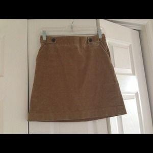 Tan corduroy skirt with pockets